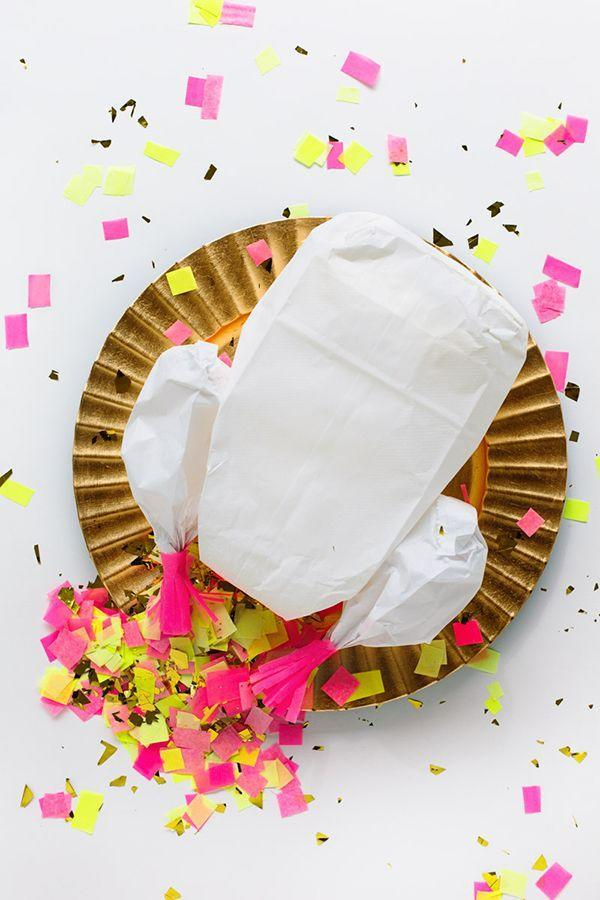 """<p>Come Thanksgiving, this confetti-stuffed turkey piñata works beautifully as both a <a href=""""https://www.countryliving.com/entertaining/g1201/thanksgiving-kids-table-ideas/"""" rel=""""nofollow noopener"""" target=""""_blank"""" data-ylk=""""slk:kids' table centerpiece"""" class=""""link rapid-noclick-resp"""">kids' table centerpiece</a> <em>and</em> a post-feast activity. Fill it up with small candies and a ton of confetti.</p><p><strong>Get the tutorial at <a href=""""https://studiodiy.com/2013/11/14/diy-confetti-stuffed-turkey/"""" rel=""""nofollow noopener"""" target=""""_blank"""" data-ylk=""""slk:Studio DIY"""" class=""""link rapid-noclick-resp"""">Studio DIY</a>.</strong></p><p><strong><a class=""""link rapid-noclick-resp"""" href=""""https://www.amazon.com/confetti/b?ie=UTF8&node=723473011&tag=syn-yahoo-20&ascsubtag=%5Bartid%7C10050.g.4698%5Bsrc%7Cyahoo-us"""" rel=""""nofollow noopener"""" target=""""_blank"""" data-ylk=""""slk:SHOP CONFETTI"""">SHOP CONFETTI</a><br></strong></p>"""