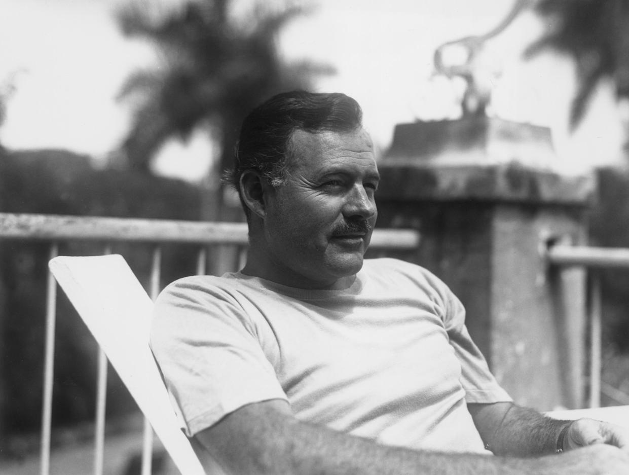 Ernest Hemingway in Cuba, July 1940. (Photo: Lloyd Arnold/Hulton Archive/Getty Images)