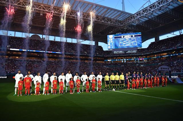 Real Madrid and Barcelona played in Miami as part of the 2017 International Champions Cup. (Getty)