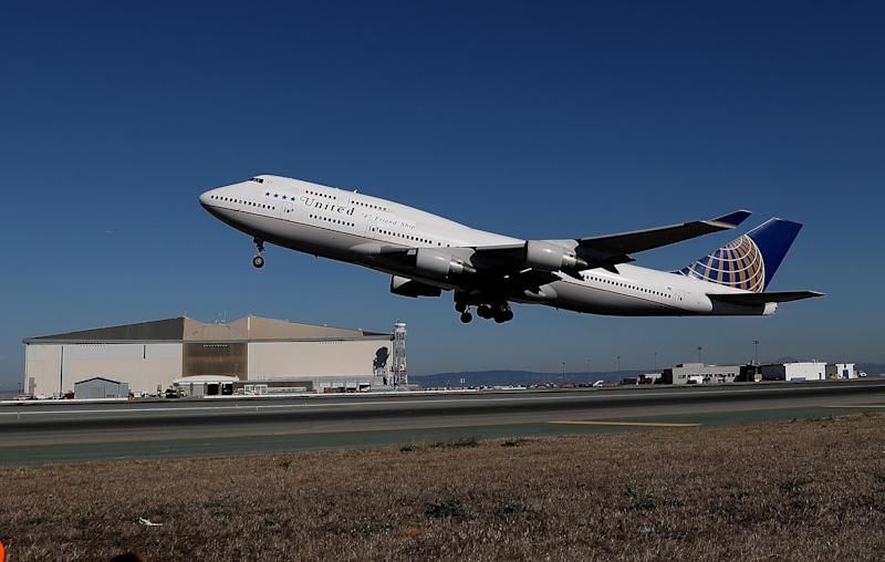 United Airlines flight 747 takes off from San Francisco International Airport: Getty