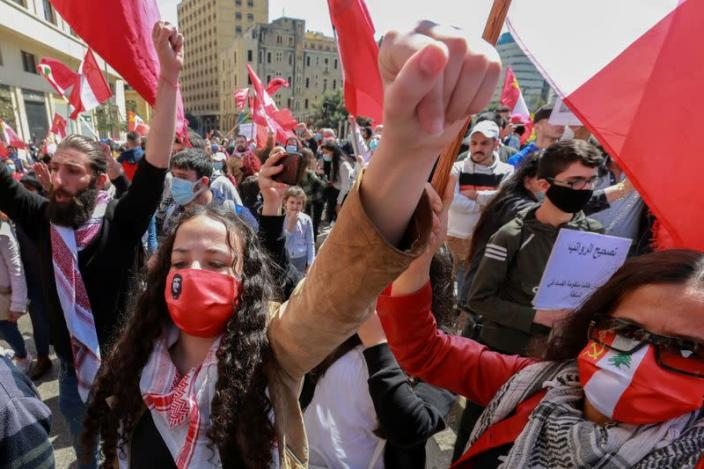 FILE PHOTO: Protest against mounting economic hardships in Beirut