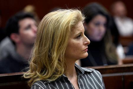 FILE PHOTO: Zervos, a former contestant on The Apprentice, appears in New York State Supreme Court in Manhattan