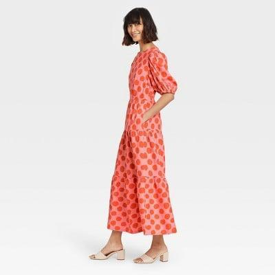 <p>We're drawn to the bright and uplifting print of this <span>Who What Wear Puff Short Sleeve Dress</span> ($38).</p>