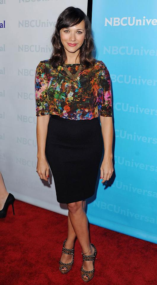 "<a href=""/rashida-jones/contributor/35399"">Rashida Jones</a> (""<a href=""/parks-recreation/show/42828"">Parks and Recreation</a>"") attends the NBC Universal 2012 Winter TCA Tour All-Star Party at The Athenaeum on January 6, 2012 in Pasadena, California."
