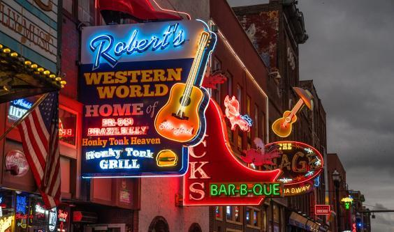 Robert's Western World is the most authentic of the Broadway honky-tonk bars (Getty Images)