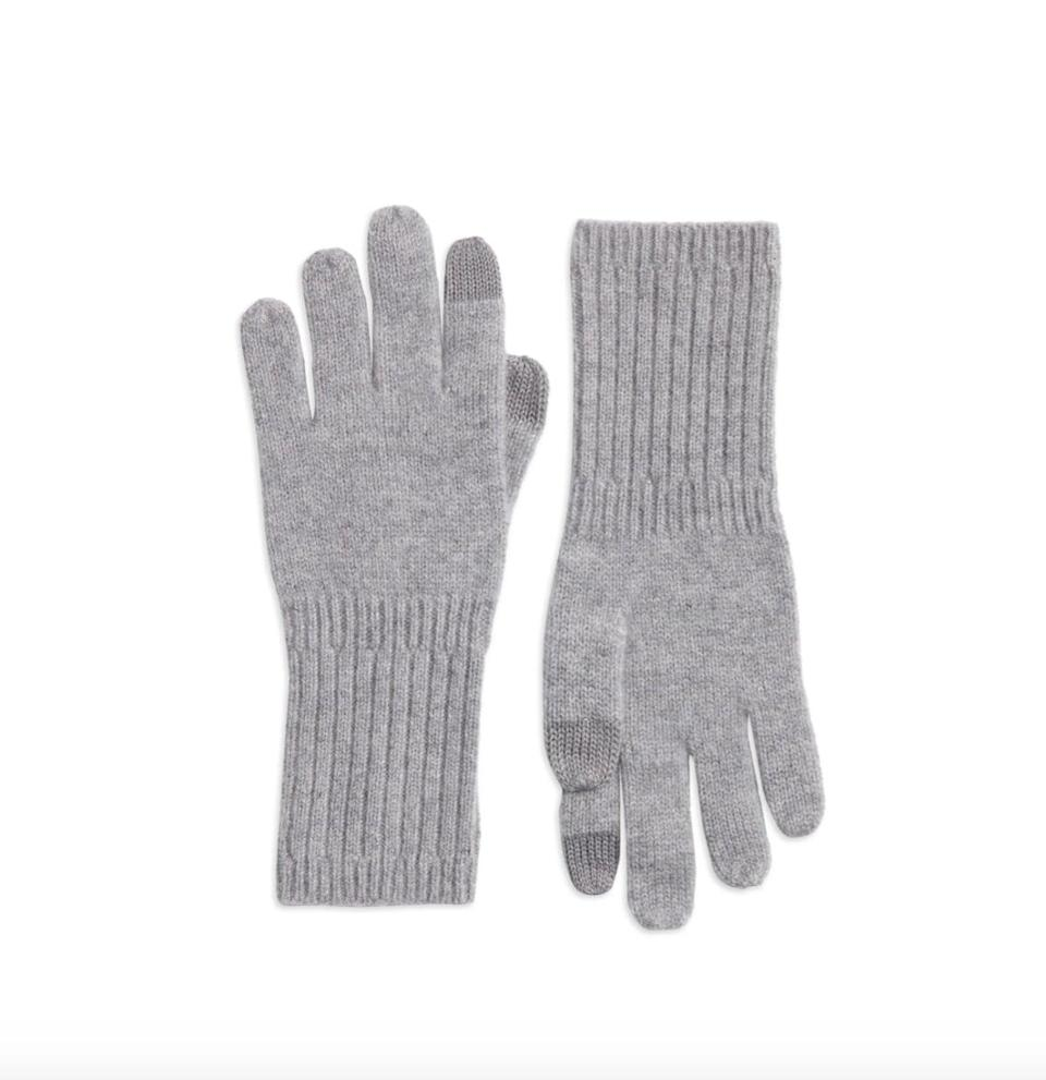 <p>Now that the temperature is starting to drop, texting your friends in the great outdoors just got <em>a lot</em> more challenging. (TBH, it's not going to get any better once winter rolls around.) Get the best of both worlds with the <span>Nordstrom Recycled Cashmere Gloves</span> ($49), which were designed with tapping and swiping in mind.</p>
