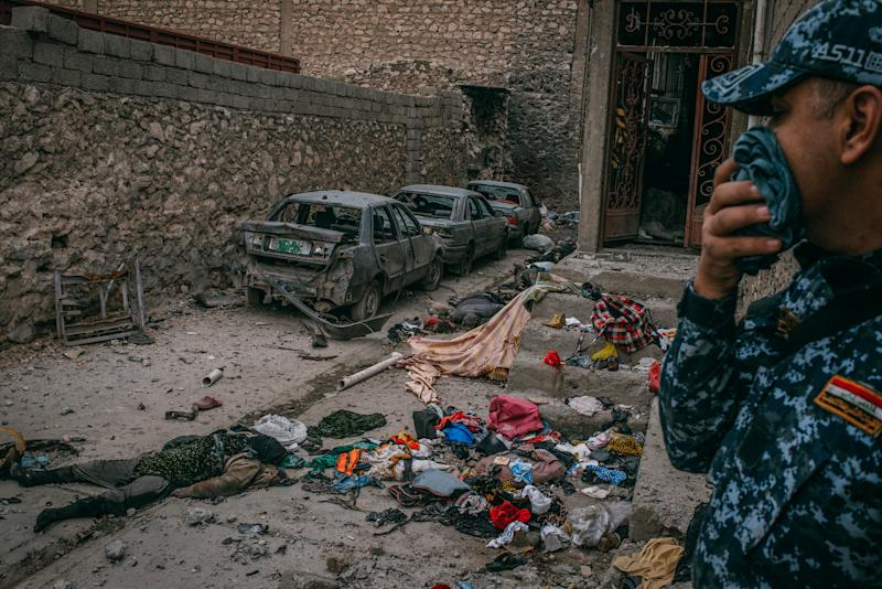 The 16 Bodies in the Mosul Alleyway