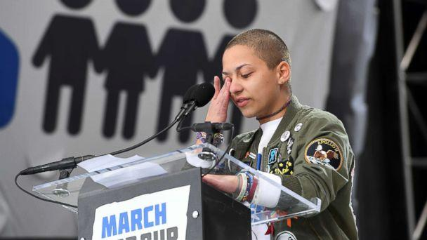 PHOTO: Marjory Stoneman Douglas High School student, Emma Gonzalez, speaks during March for Our Lives, March 24, 2018, in Washington, DC. (Matt McClain/The Washington Post via Getty Images)