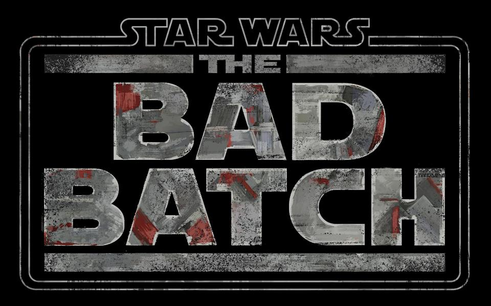 The title treatment for Star Wars: The Bad Batch (Disney)