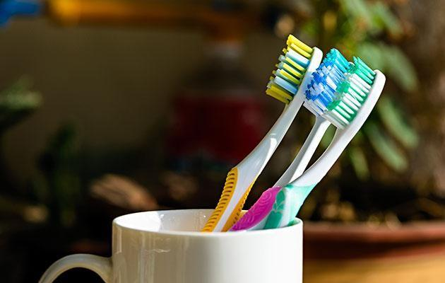 If you share a bathroom you might want to move your toothbrush out of there. Photo: Getty Images.