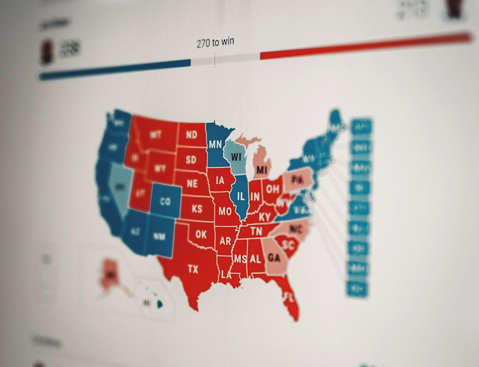 """<span class=""""caption"""">Where were the best electoral maps to be found during the 2020 U.S. presidential election? </span> <span class=""""attribution""""><span class=""""source"""">(Clay Banks/Unsplash)</span></span>"""
