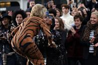 <p><strong>When: Oct. 1, 2017</strong><br>Fonda had the crowd going wild! She shared the catwalk with legendary actress Helen Mirren, 73, as well as other models like Doutzen Kroes, 32, and Irina Shayk, 31. (<em>Photo: Getty</em>) </p>