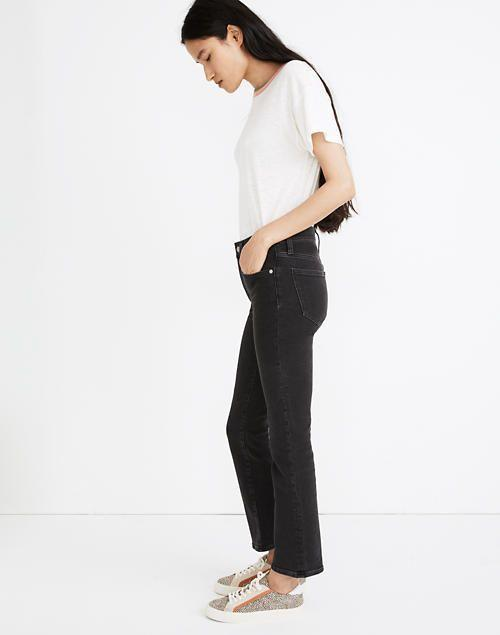 """<p><strong>Madewell</strong></p><p>madewell.com</p><p><a href=""""https://go.redirectingat.com?id=74968X1596630&url=https%3A%2F%2Fwww.madewell.com%2Fcali-demi-boot-jeans-in-starkey-wash-MB455.html&sref=https%3A%2F%2Fwww.elle.com%2Ffashion%2Fshopping%2Fg34276887%2Fmadewell-jeans-sale-october-2020%2F"""" rel=""""nofollow noopener"""" target=""""_blank"""" data-ylk=""""slk:SHOP IT"""" class=""""link rapid-noclick-resp"""">SHOP IT</a></p><p><strong><del>$128</del> $75 (41% off)</strong></p><p>What makes these bootcut jeans a bestseller? For me, it's the dark wash that makes any outfit look sharper and the bum-sculpting fit in the back.</p>"""