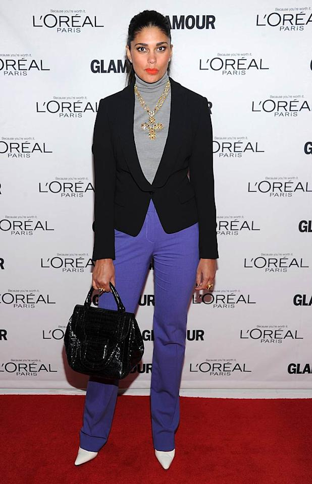 Fashion designer Rachel Roy popped a pose in purple pants. What do you think of the color ... hot or not? 11/7/2011