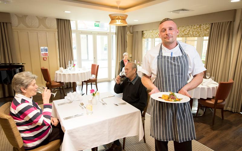 Rob Quehan, head chef at The Redwood Bistro at Bishopstoke Park, a development for the over 65s in Hampshire - Geoff Pugh Photography Ltd Telegraph Media Group Ltd