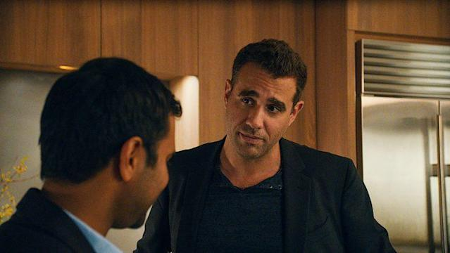 Aziz Ansari as Dev and Bobby Cannavale as Jeff in Netflix's 'Master of None' (Photo: Netflix)