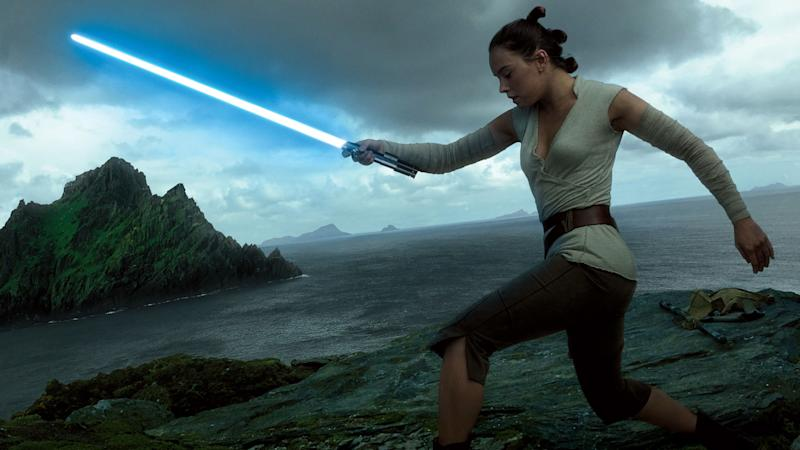 Daisy Ridley says lightsabers were designed to be lighter in The Rise of Skywalker (Credit: Disney)