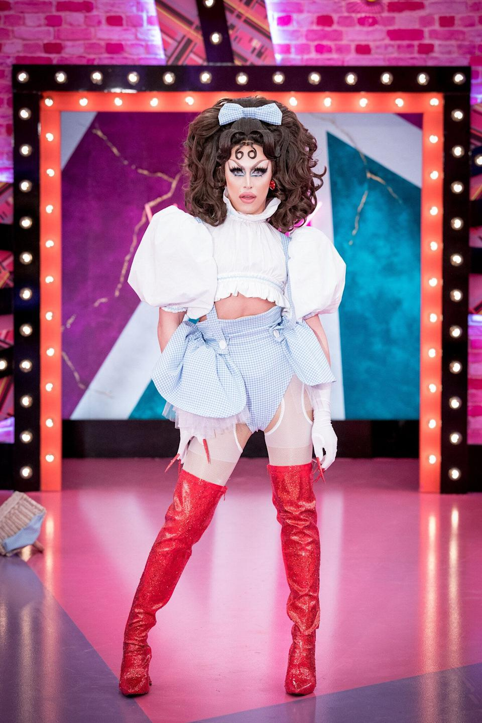 A'Whora is one of the 12 queens competing on the second series of Drag Race UK (Photo: BBC/World of Wonder/Guy Levy)