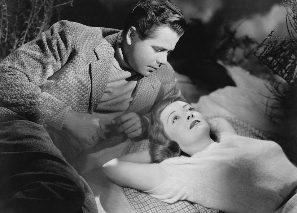 <p>Davis with actor Glenn Ford in a<em> Scene From Stolen Life</em>, in which she played the dual role of twins. The 1946 drama was the only film that Davis made with her own production company, BD Productions. Though poorly reviewed, it was one of Davis's most successful films at the box office.<br></p>