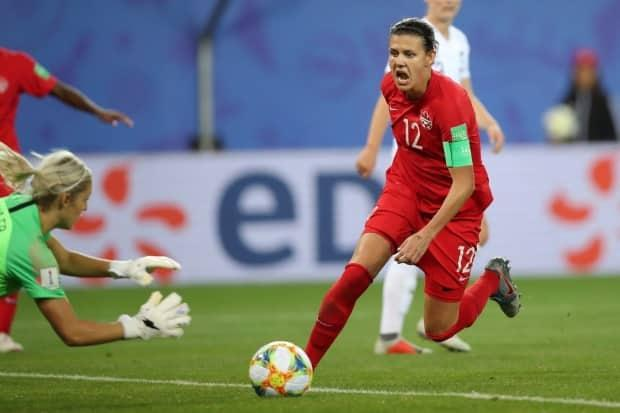 Soccer icon Christine Sinclair, pictured competing in 2019, will need to be at her scoring best if Canada hopes to make a run at the Tokyo Olympics.  (Francisco Seco/The Canadian Press - image credit)
