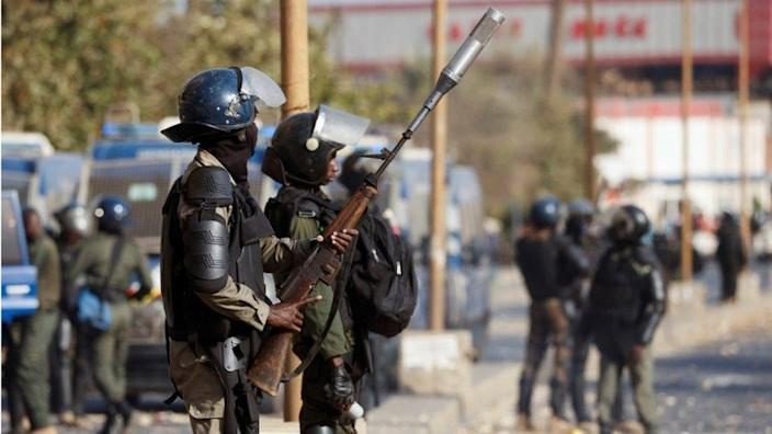 Police and protesters have clashed in unrest across Senegal