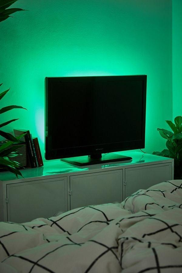 """<p>They can add some mood lighting behind the TV with this <a href=""""https://www.popsugar.com/buy/LED-Strip-Light-496537?p_name=LED%20Strip%20Light&retailer=urbanoutfitters.com&pid=496537&price=20&evar1=geek%3Auk&evar9=42811495&evar98=https%3A%2F%2Fwww.popsugartech.com%2Fphoto-gallery%2F42811495%2Fimage%2F46721296%2FLED-Strip-Light&list1=gifts%2Cgift%20guide%2Cgifts%20for%20men%2Cgifts%20under%20%24100%2Cgifts%20under%20%2450%2Cgifts%20under%20%2475&prop13=api&pdata=1"""" class=""""link rapid-noclick-resp"""" rel=""""nofollow noopener"""" target=""""_blank"""" data-ylk=""""slk:LED Strip Light"""">LED Strip Light</a> ($20).</p>"""