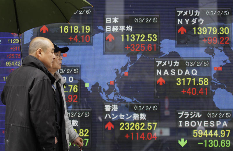 Asian stocks flat, Japan backs off from high
