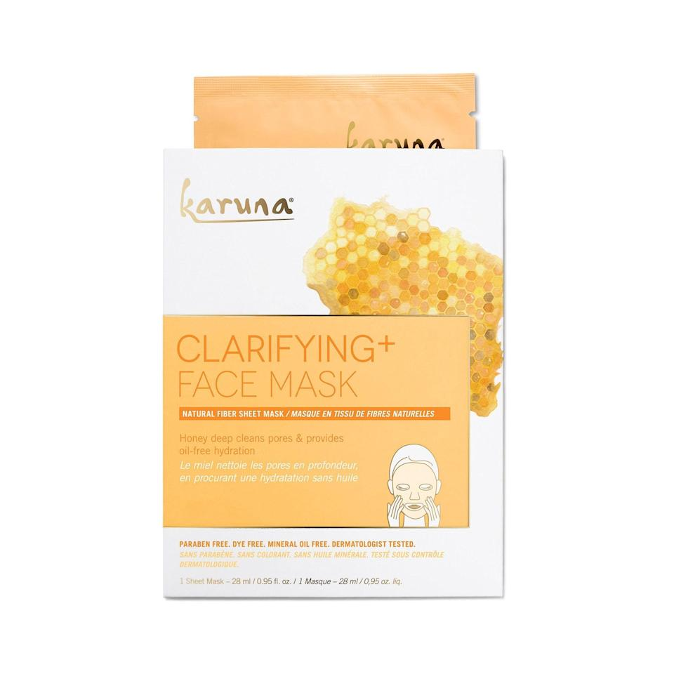 "<p>Karuna's mask is made from a biodegradable wood pulp fiber cloth, which, yes, is as special as it sounds, to help retain more serum than other masks. Oh, and its use of ginger as a gentle antiseptic makes it perfect for those with sensitive skin, who may be suffering from a breakout (or two).</p> <p><strong>$8</strong> (<a href=""https://shop-links.co/1624877846622228598"" rel=""nofollow noopener"" target=""_blank"" data-ylk=""slk:Shop Now"" class=""link rapid-noclick-resp"">Shop Now</a>)</p>"