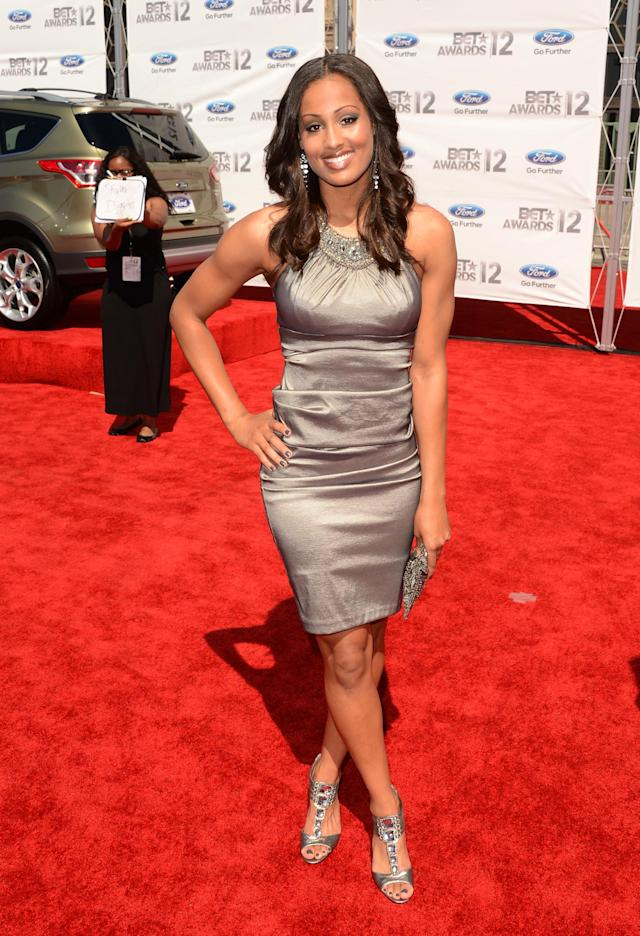 LOS ANGELES, CA - JULY 01: Skylar Diggins arrives at the 2012 BET Awards at The Shrine Auditorium on July 1, 2012 in Los Angeles, California. (Photo by Jason Merritt/Getty Images For BET)