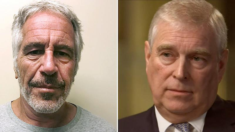 Prince Andrew (right) has spoken out about his controversial friendship with convicted sex offender Jeffrey Epstein (left).