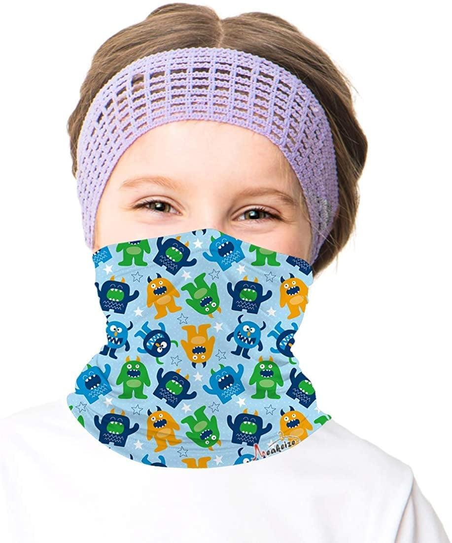 <p>For a basic neck gaiter, try this <span>Meakeize Kids Full-Coverage Tube Face Mask</span> ($8, originally $9). It comes in lots of patterns if you want and is breathable. This one also comes in just one size.</p>