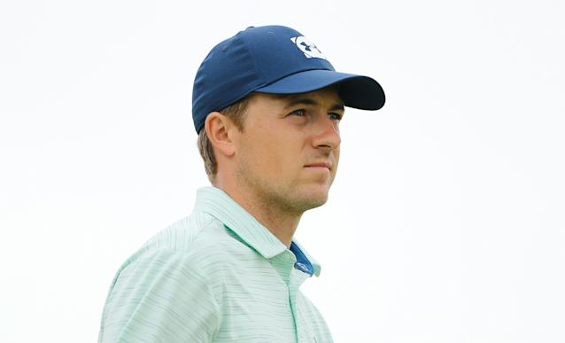 "<h1 class=""title"">jordan-spieth-byron-nelson-2019-thursday.jpg</h1> <div class=""caption""> Jordan Spieth looks on after playing his shot from the 12th tee during the first round of the 2019 AT&T Byron Nelson. </div> <cite class=""credit"">Michael Reaves/Getty Images</cite>"