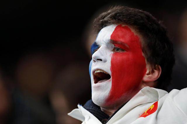Rugby Union - Autumn Internationals - France vs Japan - U Arena, Nanterre, France - November 25, 2017 France fan with his face painted REUTERS/Gonzalo Fuentes