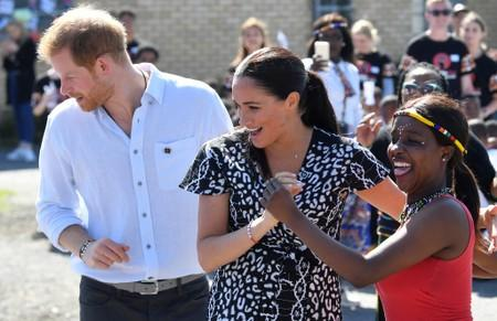 UK's Harry and Meghan start South African tour in Nyanga township