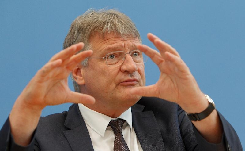 Meuthen hit out against those who call his party climate change deniers (AFP Photo/MICHELE TANTUSSI)