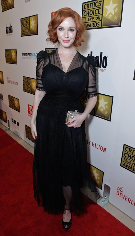 Christina Hendricks attends the 2012 Critics' Choice Television Awards at The Beverly Hilton Hotel on June 18, 2012 in Beverly Hills, California.