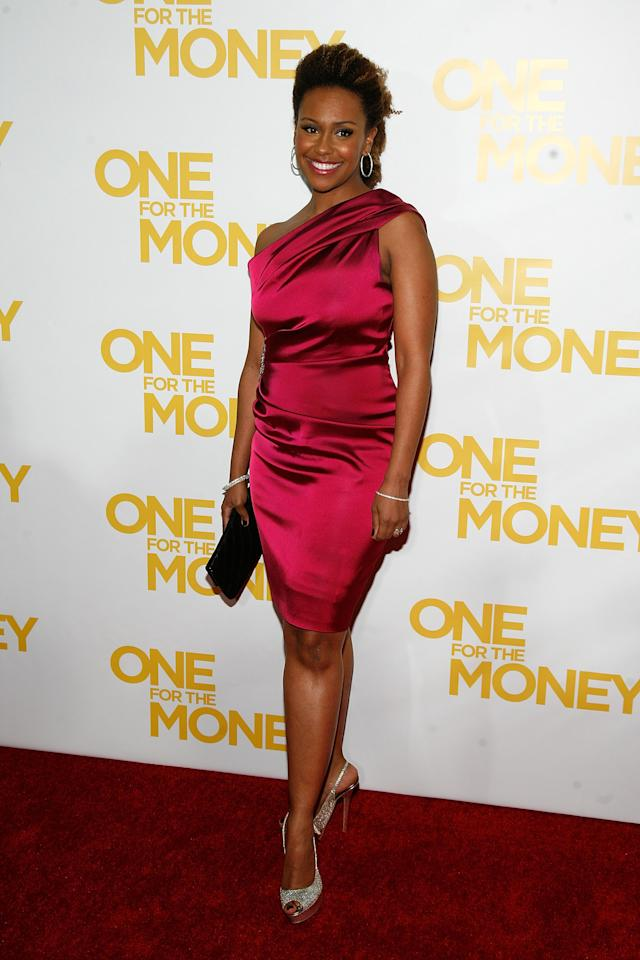"""NEW YORK, NY - JANUARY 24:  Ryan Michelle Bathe attends the """"One for the Money"""" premiere at the AMC Loews Lincoln Square on January 24, 2012 in New York City.  (Photo by Andy Kropa/Getty Images)"""