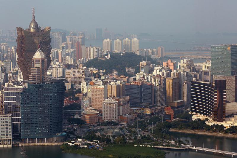 FILE PHOTO - Casinos are seen in a general view of Macau