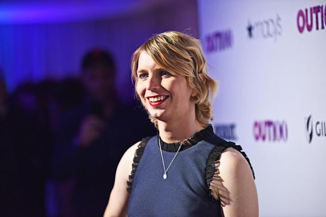 Chelsea Manning attends <em>Out</em> magazine #OUT100 event presented by Lexus at the the Altman Building on Nov. 9, 2017, in New York City. (Photo: Getty Images)