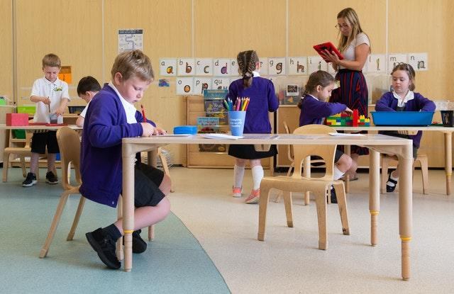 Reception pupils early language skills support