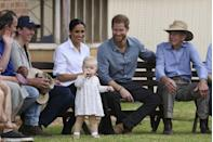 <p>The next day the Duke and Duchess were pictured cooing over adorable one-year-old Ruby Carroll in Dubbo, Australia. Just look at how mesmerised the expectant parents are.</p>