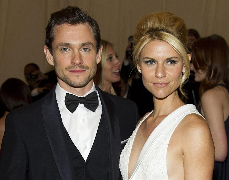 FILE - In this May 7, 2012 file photo, Hugh Dancy and Claire Danes arrive at the Metropolitan Museum of Art Costume Institute gala benefit in New York. Danes' rep on Wednesday, Dec. 19, 2012 confirmed the couple welcomed a baby boy named Cyrus Michael Christopher on Monday, Dec. 17.  (AP Photo/Charles Sykes, File)