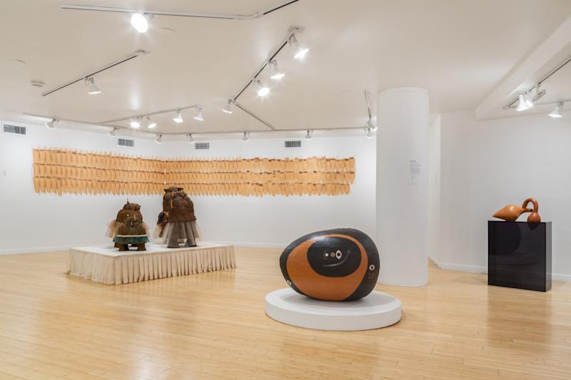 Installation view of the clay biennial
