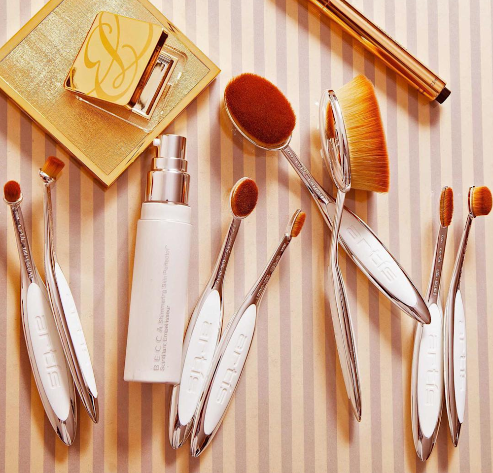 """<p>Consider Artis the Rolex of makeup brushes. They're sleek, luxurious, and the bristles feel like heaven on your face. There's a specific size and shape for everything from your forehead to your eyebrows, so you'll never want to go back to using the same brush for multiple uses.</p> <p><em>Artis Elite Mirror 10-Brush Set, $355, <a rel=""""nofollow"""" href=""""http://www.artisbrush.com/elite-mirror-collection-product/elite-mirror-ten-brushes-set?mbid=synd_yahoobeauty"""">artisbrush.com</a></em></p>"""