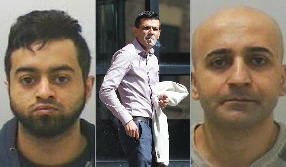 Monjur Choudhury, Abdul Sabe and Abdulhamid Minoyee were three of those found guilty. (PA)