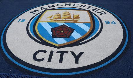 Soccer Football - Premier League - Manchester City v Burnley - Etihad Stadium, Manchester, Britain - October 20, 2018. Picture taken October 20, 2018.   Manchester City badge    REUTERS/Darren Staples
