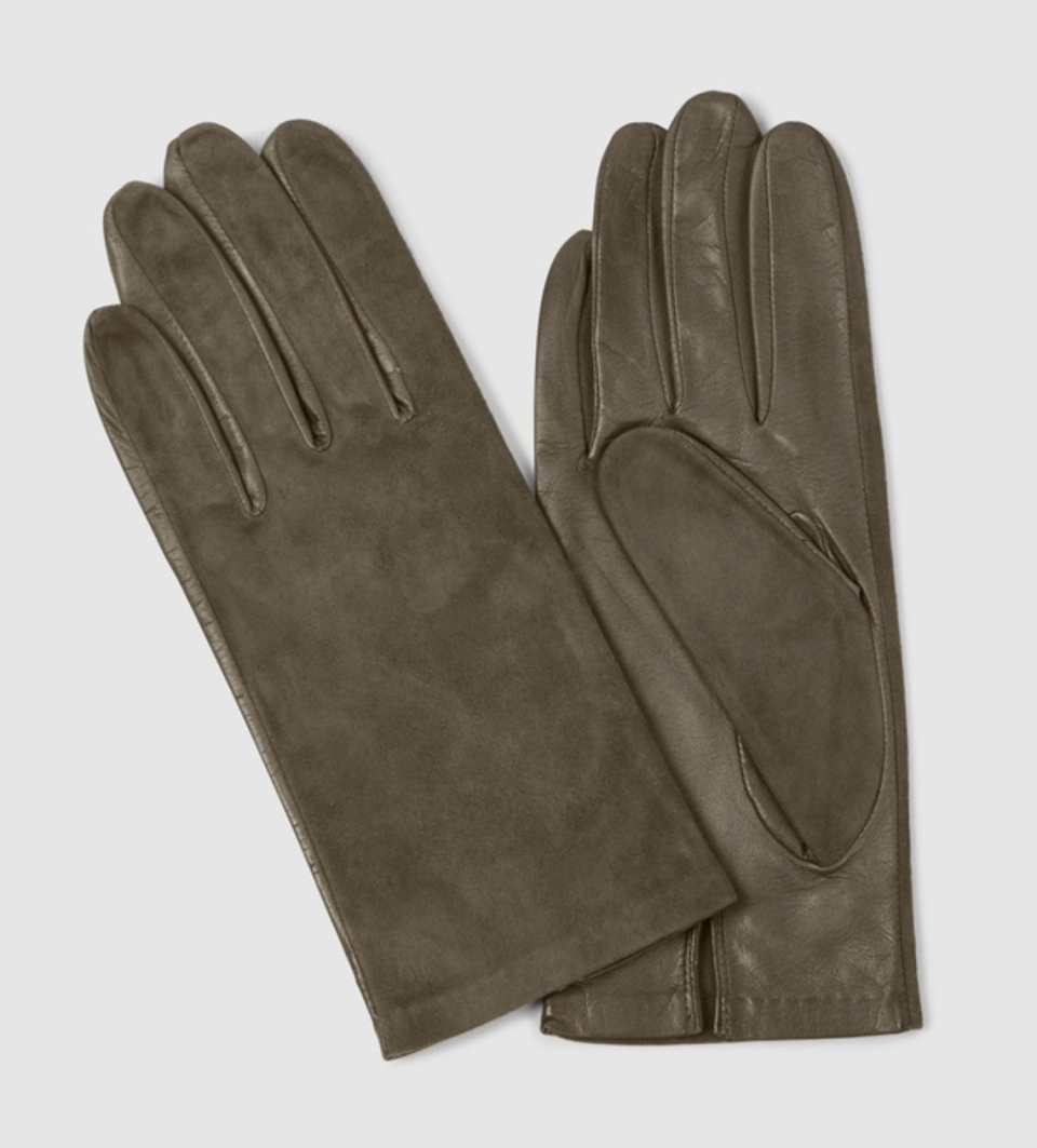KATE & CONFUSION Aspen Suede and Leather Gloves