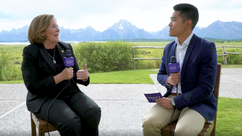 Kansas City Fed President Esther George speaks from Jackson Hole.