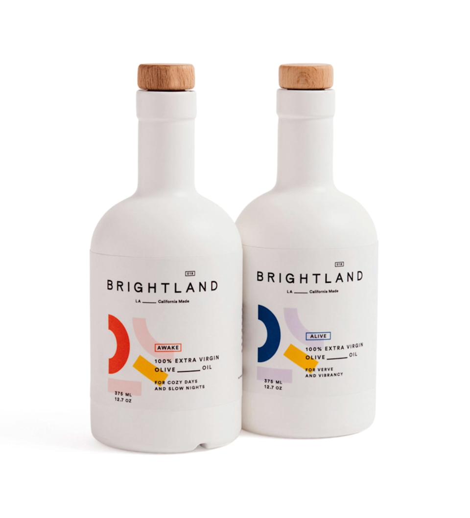 """High-end olive oil is perfectly practical and indulgent. Brightland's varietals are incredibly flavorful (plus the bottles are cute enough to leave on the kitchen counter). $74, Goop. <a href=""""https://shop.goop.com/shop/products/the-duo-extra-virgin-olive-oils?country=USA"""" rel=""""nofollow noopener"""" target=""""_blank"""" data-ylk=""""slk:Get it now!"""" class=""""link rapid-noclick-resp"""">Get it now!</a>"""
