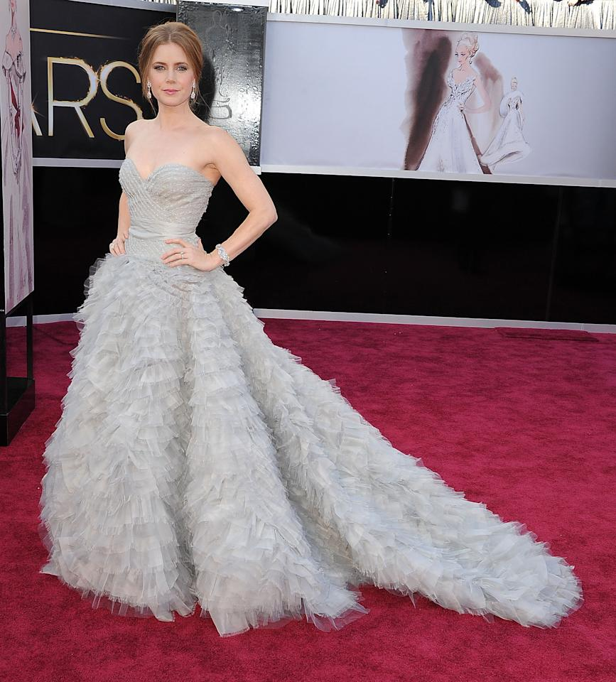 Amy Adams looked no less than a princess in this Oscar de la Renta creation at the Oscars this year.